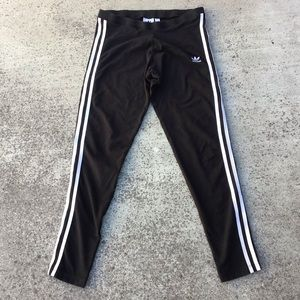 Adidas 3 Stripe Cropped Leggings